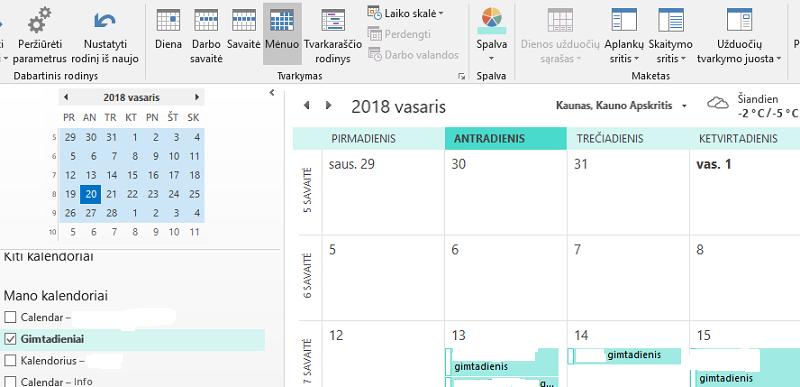 Gimtadienio kalendorius