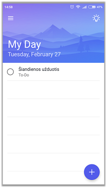 Microsoft ToDo MyDay2